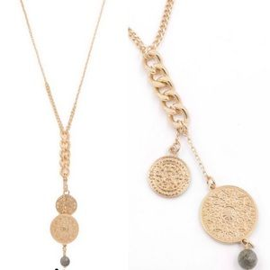 NEW! Gold Medallion Dangle Necklace